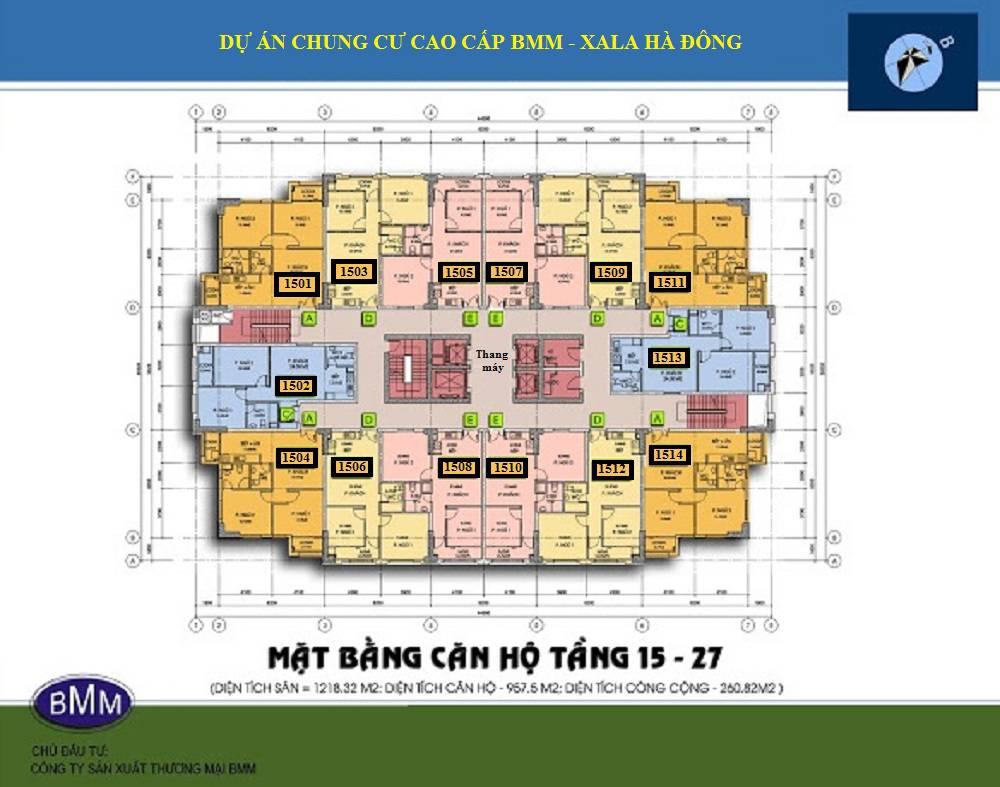 mat bang san tang 15 chung cu bmm xa la