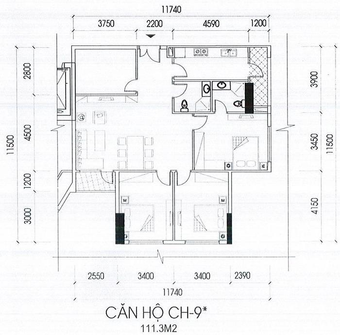 Can-ho-ch-9s-toa-B-111.3m2 chung cu IA20 Novotel Ciputra