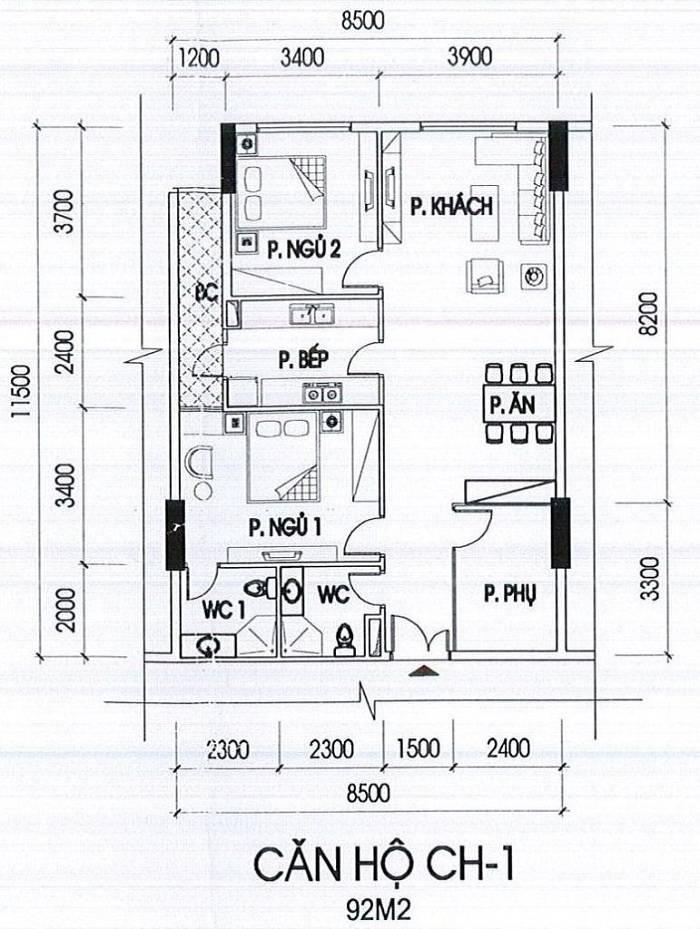 can-ho-ch-1-toa-B-92m2 chung cu IA20 Novotel Ciputra