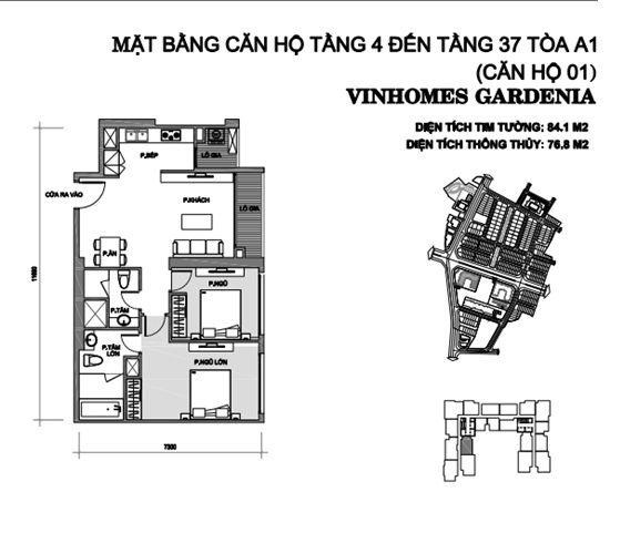 can 1 tang 4 toa a1 chung cu vinhomes gardenia