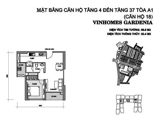 can 18 tang 4 - 37 toa a1 chung cu vinhomes gardenia