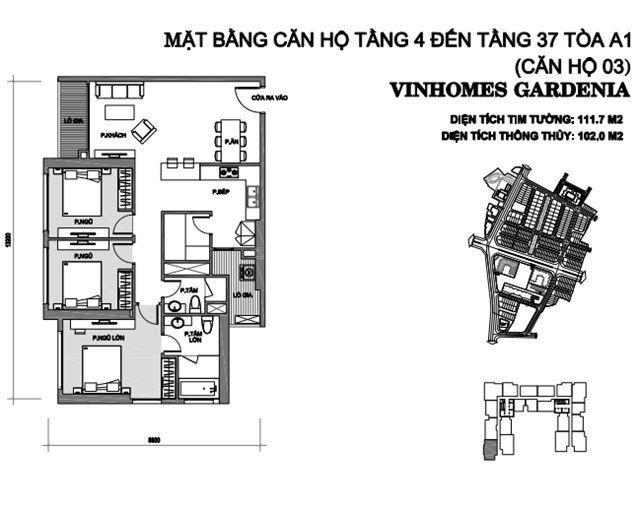 can 3 tang 4 toa a1 chung cu vinhomes gardenia