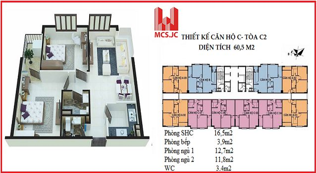 can ho 60m2 toa c2 xuan dinh