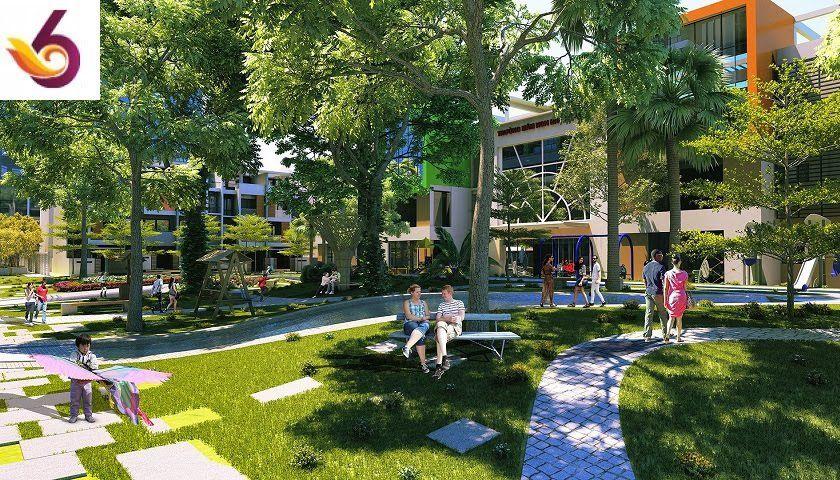 sân vườn thiên nhiên chung cư nổi bật quận Cầu Giấy