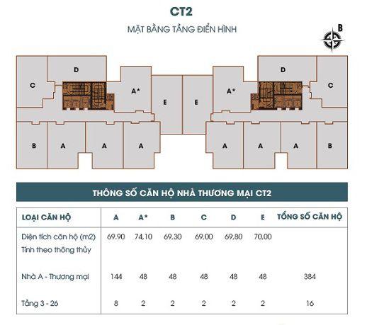 Mat bang toa CT2 789 xuan dinh