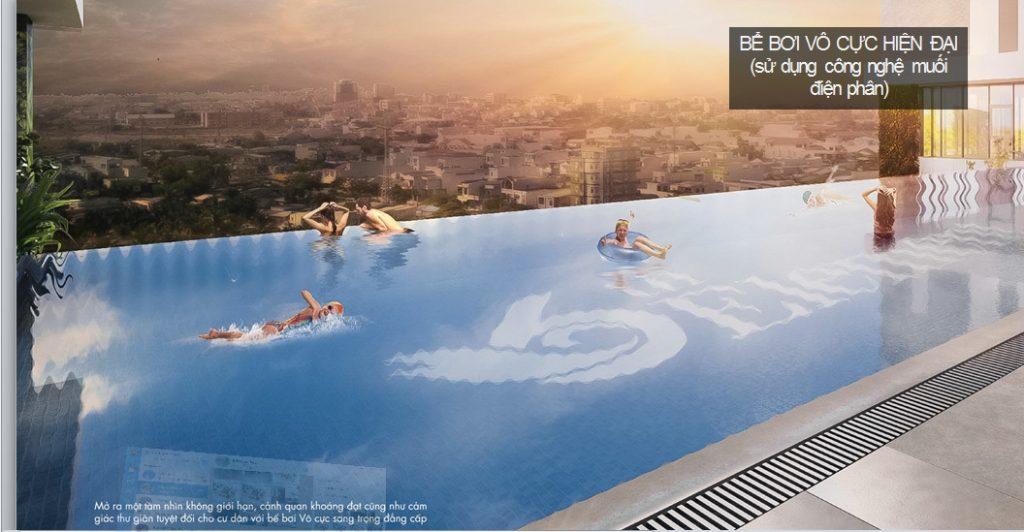 bể bơi vô cực chung cư quận cầu giấy